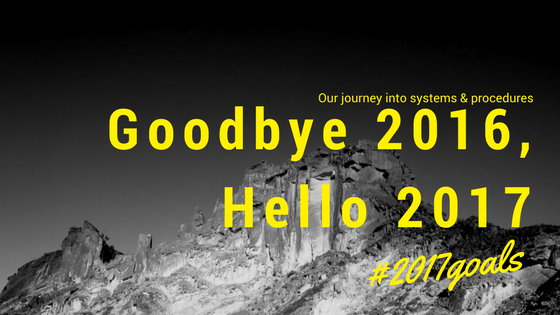 Blog - Goodbye 2016, Hello 2017